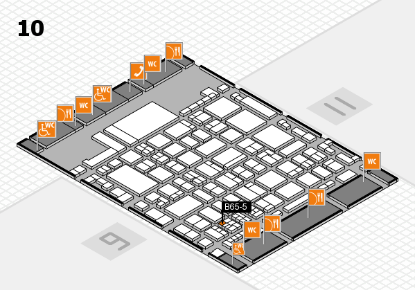 glasstec 2016 hall map (Hall 10): stand B65-5