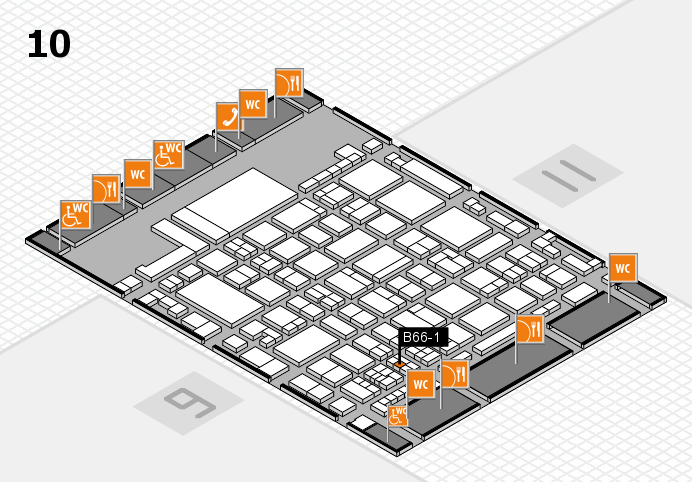 glasstec 2016 hall map (Hall 10): stand B66-1