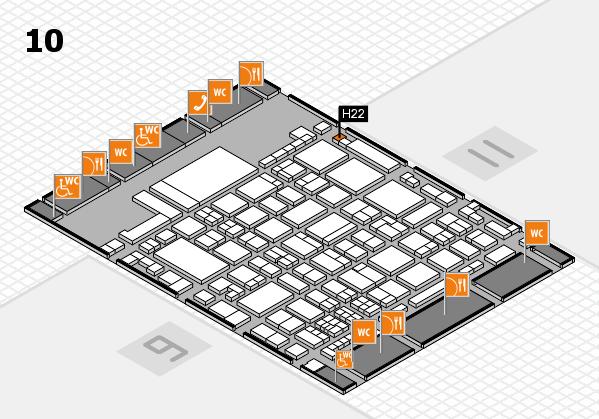 glasstec 2016 Hallenplan (Halle 10): Stand H22