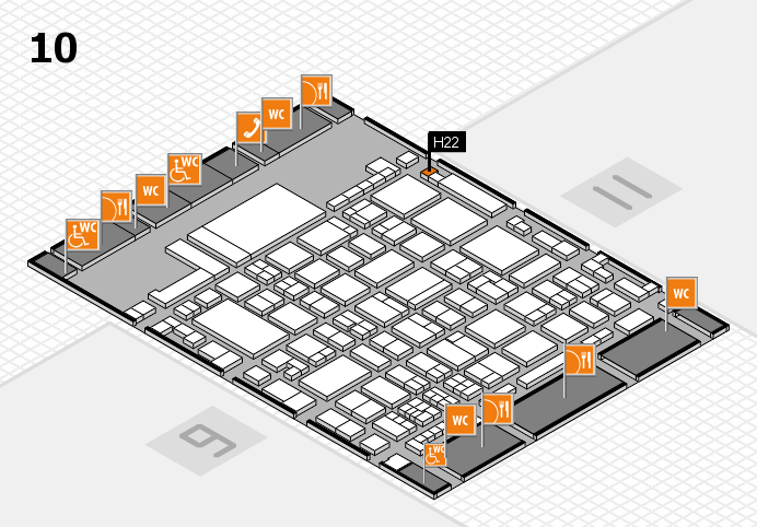 glasstec 2016 hall map (Hall 10): stand H22
