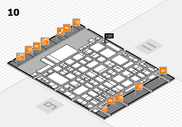 glasstec 2016 hall map (Hall 10): stand H26
