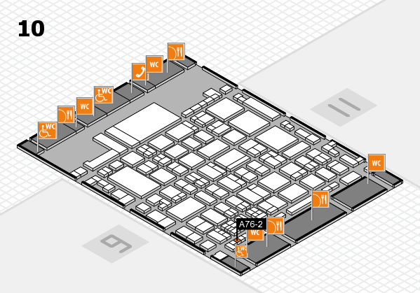 glasstec 2016 hall map (Hall 10): stand A76-2