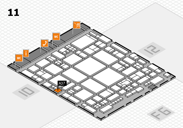 glasstec 2016 hall map (Hall 11): stand A37