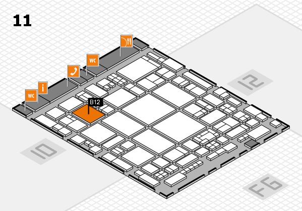 glasstec 2016 hall map (Hall 11): stand B12