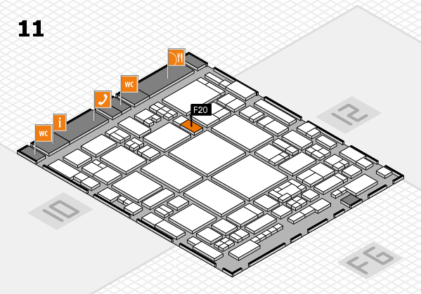glasstec 2016 hall map (Hall 11): stand F20