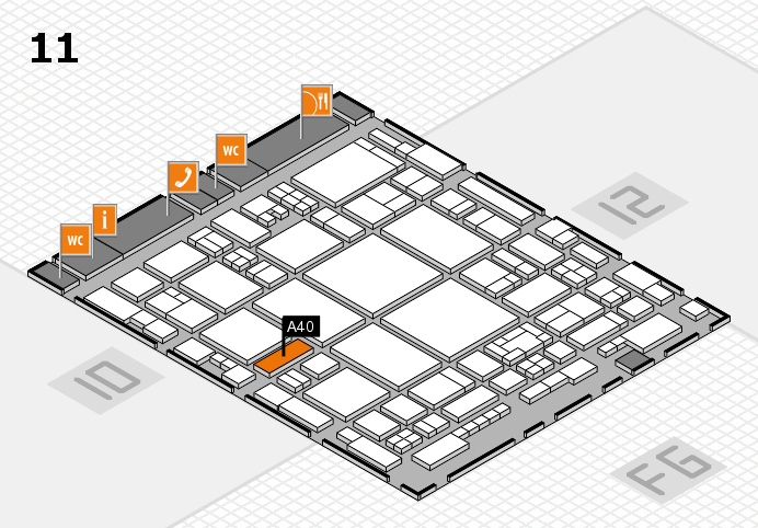 glasstec 2016 hall map (Hall 11): stand A40