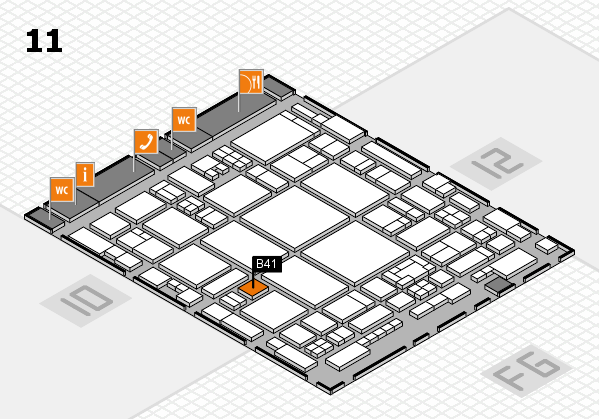 glasstec 2016 hall map (Hall 11): stand B41