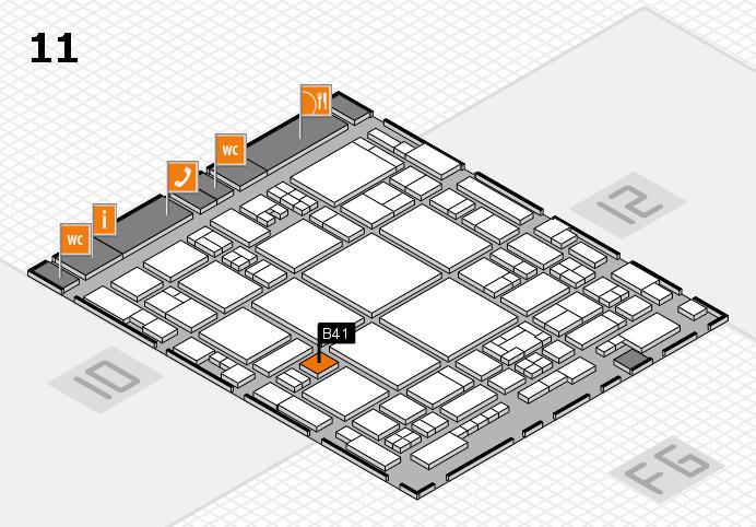 glasstec 2016 Hallenplan (Halle 11): Stand B41
