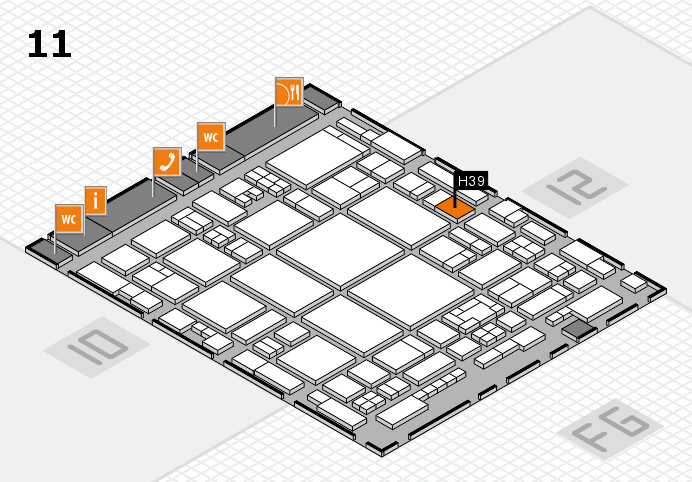 glasstec 2016 hall map (Hall 11): stand H39