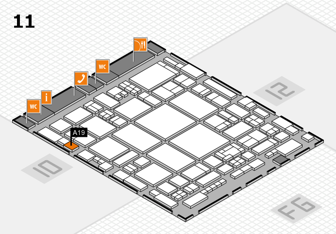 glasstec 2016 hall map (Hall 11): stand A19