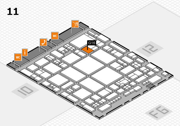 glasstec 2016 hall map (Hall 11): stand G16
