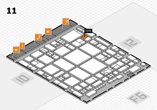glasstec 2016 Hallenplan (Halle 11): Stand H15