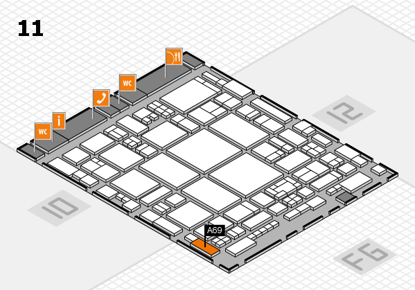 glasstec 2016 hall map (Hall 11): stand A69