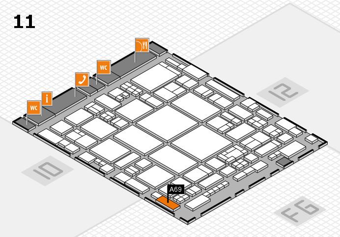 glasstec 2016 hall map (Hall 11): stand A69