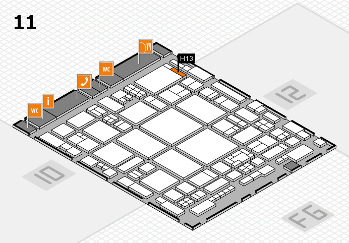 glasstec 2016 hall map (Hall 11): stand H13