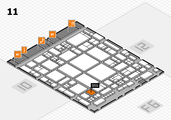 glasstec 2016 hall map (Hall 11): stand B59
