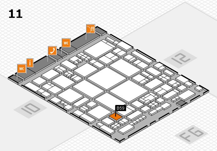 glasstec 2016 hall map (Hall 11): stand B59