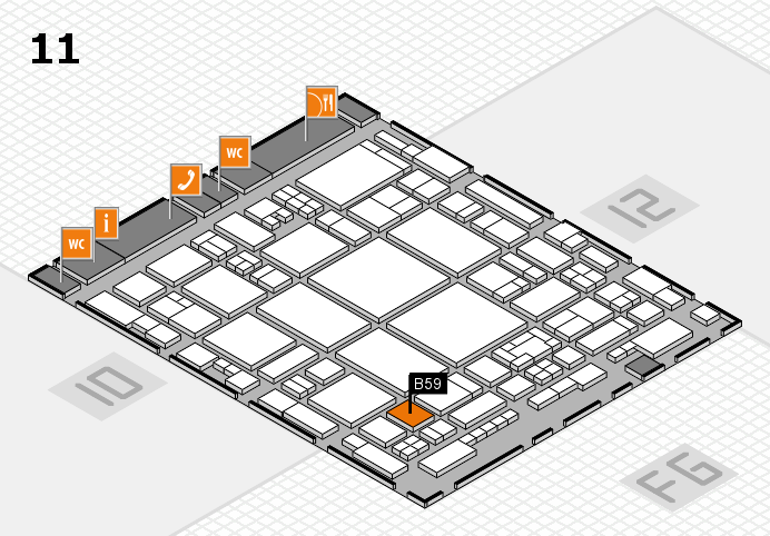 glasstec 2016 Hallenplan (Halle 11): Stand B59