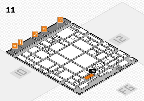 glasstec 2016 hall map (Hall 11): stand B68
