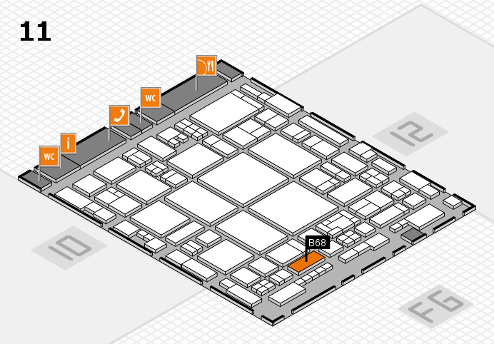 glasstec 2016 hall map (Hall 11): stand B68