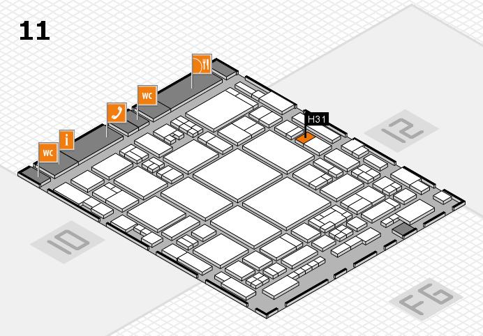 glasstec 2016 Hallenplan (Halle 11): Stand H31