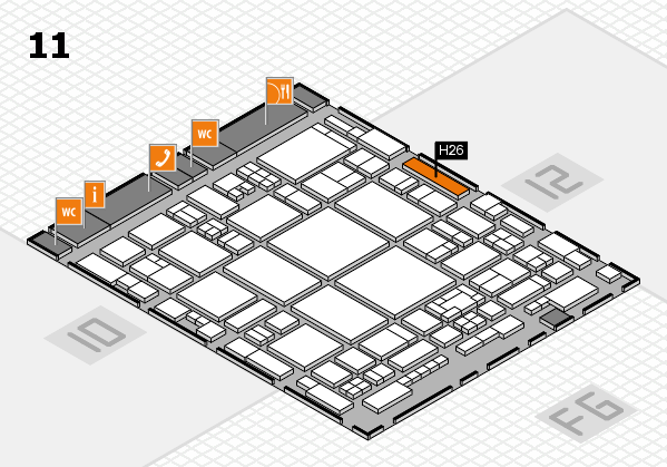 glasstec 2016 hall map (Hall 11): stand H26