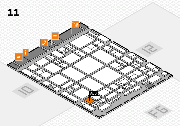 glasstec 2016 hall map (Hall 11): stand A60