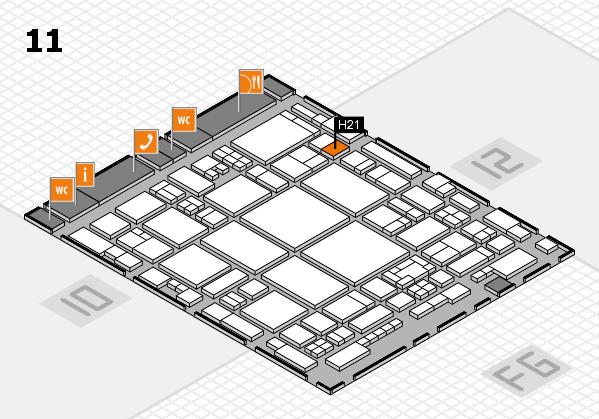 glasstec 2016 Hallenplan (Halle 11): Stand H21
