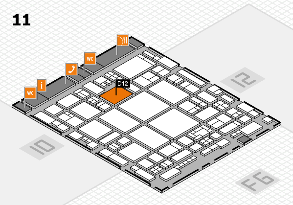 glasstec 2016 hall map (Hall 11): stand D12