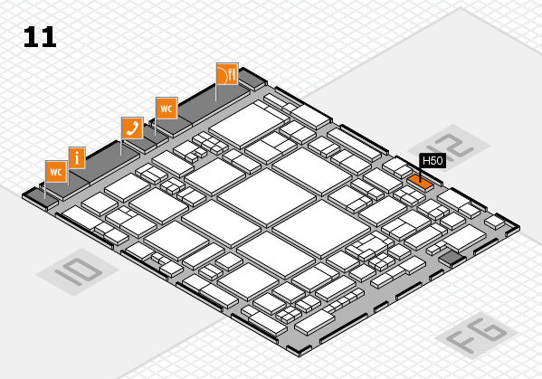 glasstec 2016 hall map (Hall 11): stand H50