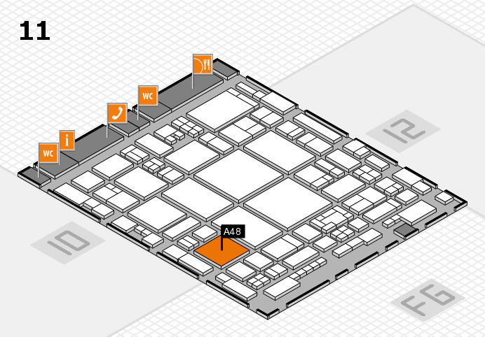 glasstec 2016 hall map (Hall 11): stand A48