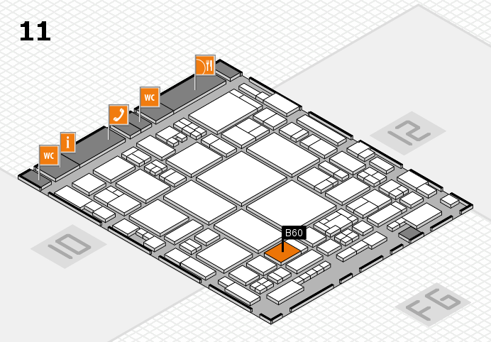 glasstec 2016 hall map (Hall 11): stand B60