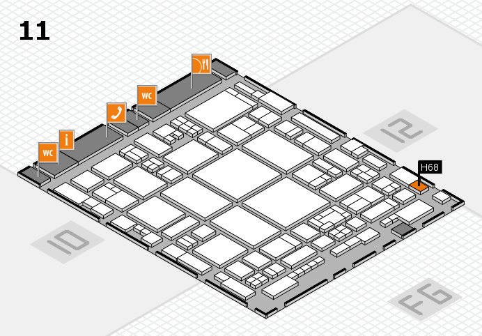 glasstec 2016 hall map (Hall 11): stand H68