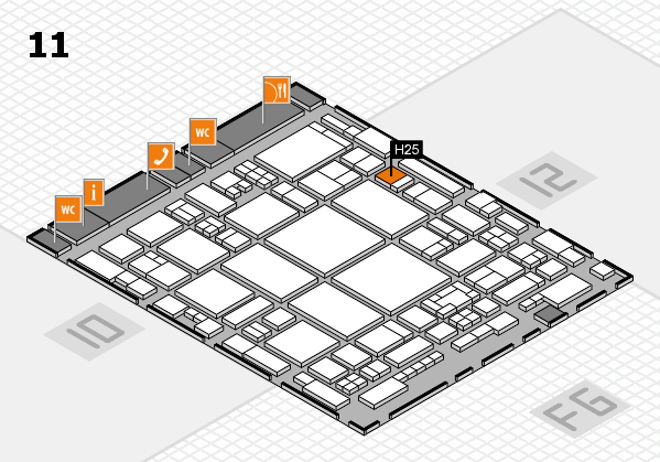 glasstec 2016 hall map (Hall 11): stand H25