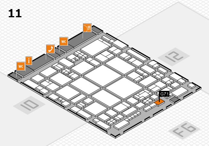 glasstec 2016 hall map (Hall 11): stand G71