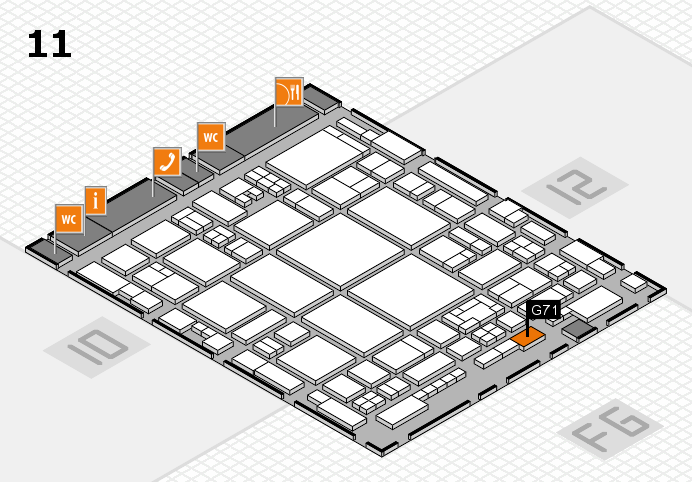 glasstec 2016 Hallenplan (Halle 11): Stand G71