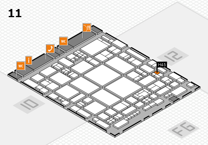 glasstec 2016 hall map (Hall 11): stand H45