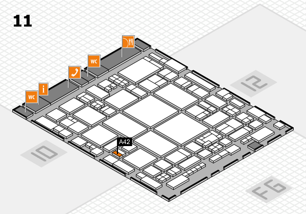 glasstec 2016 hall map (Hall 11): stand A42
