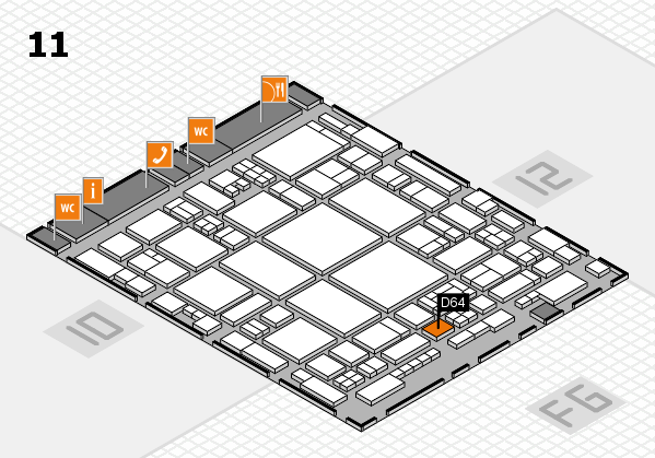 glasstec 2016 hall map (Hall 11): stand D64