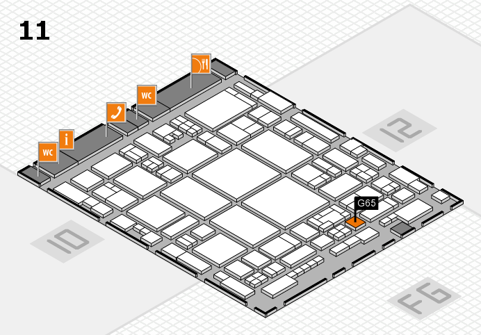 glasstec 2016 Hallenplan (Halle 11): Stand G65
