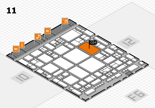 glasstec 2016 hall map (Hall 11): stand G24