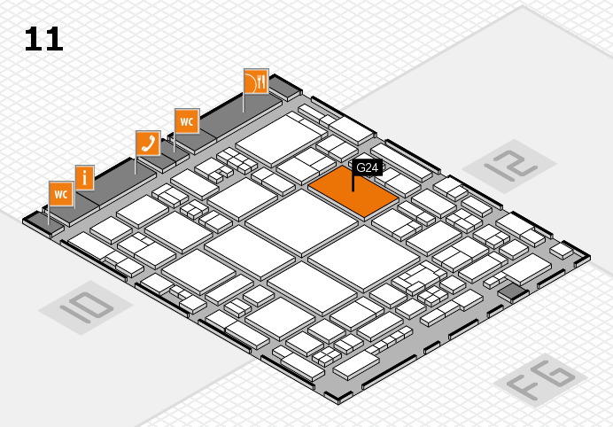glasstec 2016 Hallenplan (Halle 11): Stand G24