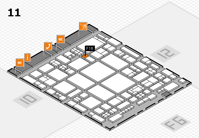 glasstec 2016 hall map (Hall 11): stand F16