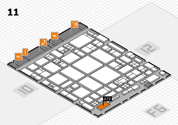 glasstec 2016 hall map (Hall 11): stand A72