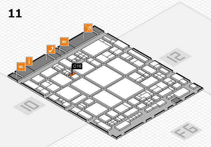 glasstec 2016 Hallenplan (Halle 11): Stand C16