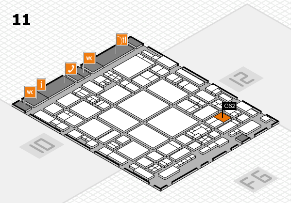 glasstec 2016 hall map (Hall 11): stand G62