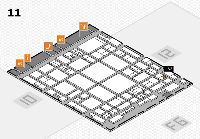 glasstec 2016 hall map (Hall 11): stand H63