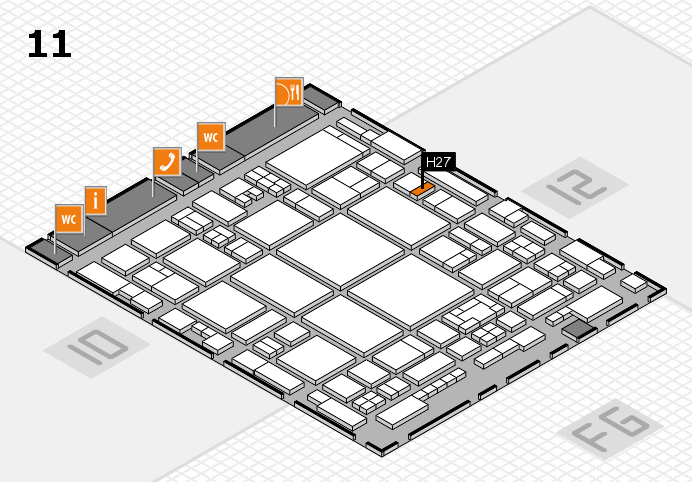 glasstec 2016 hall map (Hall 11): stand H27