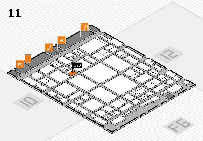 glasstec 2016 Hallenplan (Halle 11): Stand C20