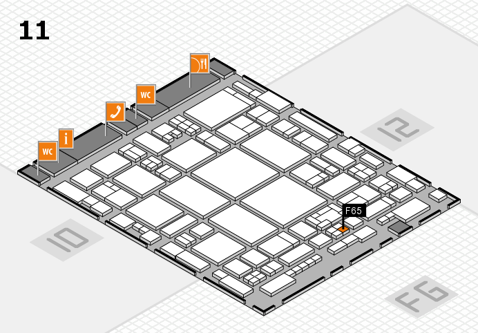 glasstec 2016 hall map (Hall 11): stand F65